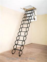 Cầu thang gác ốp trần