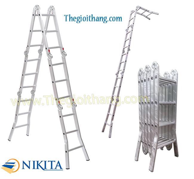Thang nhôm gấp 6 khúc Nikita - NIK36A